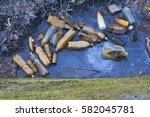 landfill  plastic bottles  into ...   Shutterstock . vector #582045781