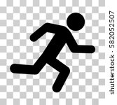 running man vector icon.... | Shutterstock .eps vector #582052507