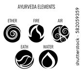 ayurveda vector elements and... | Shutterstock .eps vector #582059359