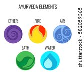 ayurveda vector elements and... | Shutterstock .eps vector #582059365