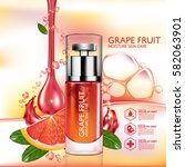 grapefruit serum moisture skin... | Shutterstock .eps vector #582063901