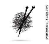 vector sign ball of yarn ... | Shutterstock .eps vector #582066499