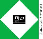 vip badge  icon vector design.