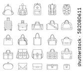 outline set of women's and men...   Shutterstock .eps vector #582080611