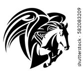 winged horse design   pegasus... | Shutterstock .eps vector #582083209