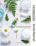 spa setting with cosmetic cream ... | Shutterstock . vector #582088261