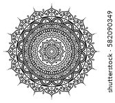 mandala. coloring book pages.... | Shutterstock .eps vector #582090349