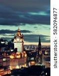 Edinburgh City View At Night I...