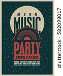 disco music party poster... | Shutterstock .eps vector #582098017
