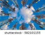 mobile phone communication... | Shutterstock . vector #582101155