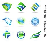 various green and blue abstract ... | Shutterstock .eps vector #58210306
