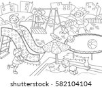 Childrens Playground Coloring....