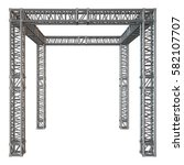 steel truss girder rooftop... | Shutterstock . vector #582107707