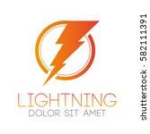 lightning bolt logo   Shutterstock .eps vector #582111391