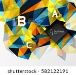polygonal triangle abstract... | Shutterstock .eps vector #582122191