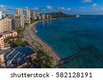 waikiki beach | Shutterstock . vector #582128191