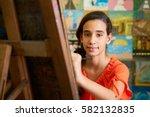 school of art  college of arts. ... | Shutterstock . vector #582132835
