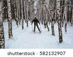 cross country skiing   Shutterstock . vector #582132907