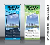 roll up brochure flyer banner... | Shutterstock .eps vector #582133315