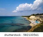 Small photo of Sani beach in Cassandra. Halkidiki. Sea view.