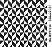 black and white triangles and... | Shutterstock .eps vector #582139039