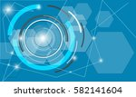 vector background with abstract ... | Shutterstock .eps vector #582141604