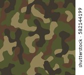seamless camouflage pattern.... | Shutterstock .eps vector #582144199