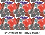 hand painted illustration in... | Shutterstock . vector #582150064