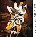 abstraction giraffe. the...   Shutterstock . vector #582151921