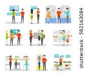 appliaces department set on... | Shutterstock .eps vector #582163084