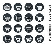 shopping cart icon set | Shutterstock .eps vector #582171595