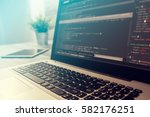 coding code program programming ... | Shutterstock . vector #582176251