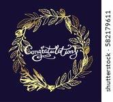 congratulations calligraphy... | Shutterstock .eps vector #582179611