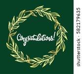 congratulations calligraphy... | Shutterstock .eps vector #582179635