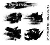 vector set of grunge brush... | Shutterstock .eps vector #582180751
