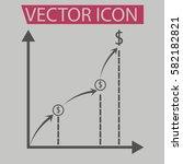 busness increasing growing... | Shutterstock .eps vector #582182821