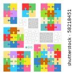 jigsaw puzzle vector blank...   Shutterstock .eps vector #58218451
