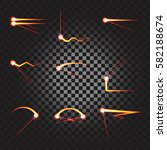 laser cutting or welding trace... | Shutterstock .eps vector #582188674