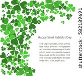 st patrick's day background... | Shutterstock .eps vector #582189691
