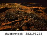 night panoramic view of mexico... | Shutterstock . vector #582198235