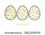 easter white background with... | Shutterstock .eps vector #582204955
