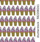 vector seamless pattern with... | Shutterstock .eps vector #582208261
