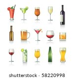 cocktail set | Shutterstock .eps vector #58220998