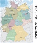 map of germany | Shutterstock .eps vector #582219337