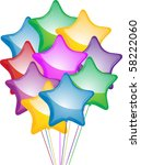 bunch of colourful star shaped... | Shutterstock .eps vector #58222060