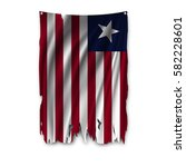 torn by the wind national flag... | Shutterstock .eps vector #582228601
