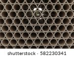 cardboard tubes on stack  close ... | Shutterstock . vector #582230341