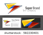 abstract geometric corporate... | Shutterstock .eps vector #582230401