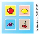 small vector fruit.   Shutterstock .eps vector #582233575