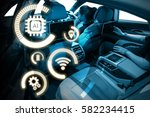 smart car and internet of... | Shutterstock . vector #582234415